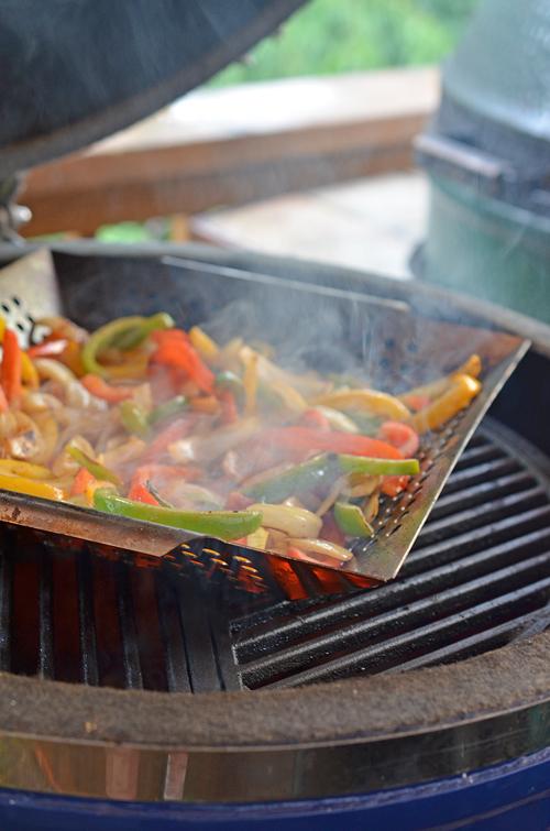 grilling fajita vegetables, Grill Dome