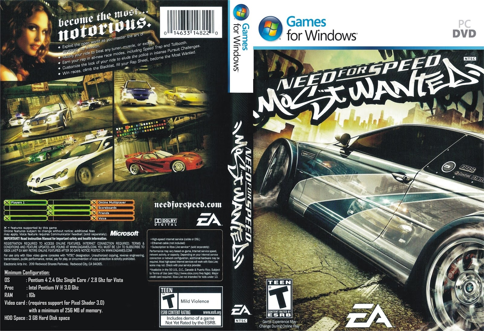 Need for Speed Most Wanted PC DVD Capa