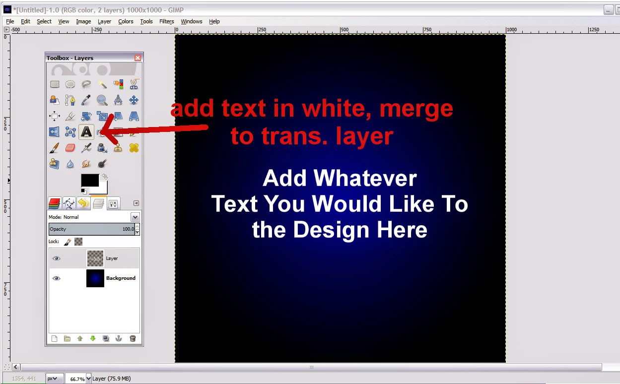 Gaussian Blur Text Effect 2