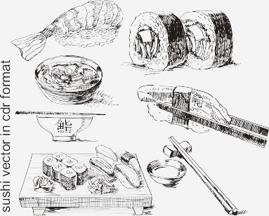Vintage Sushi - Corel Draw Format