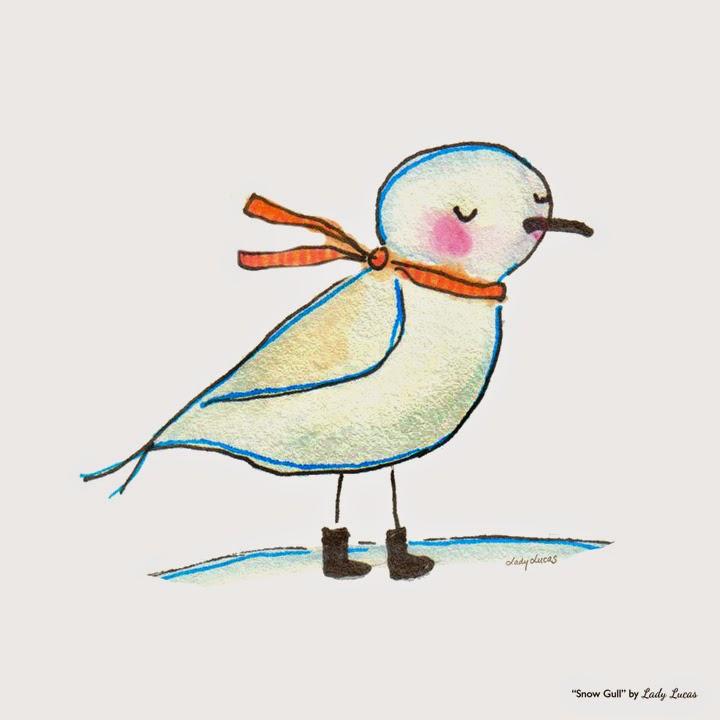 Snow Gull by Lady Lucas | #25DaysofSnowmen