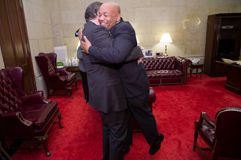 Feeling the Love...Governor Hugs Speaker