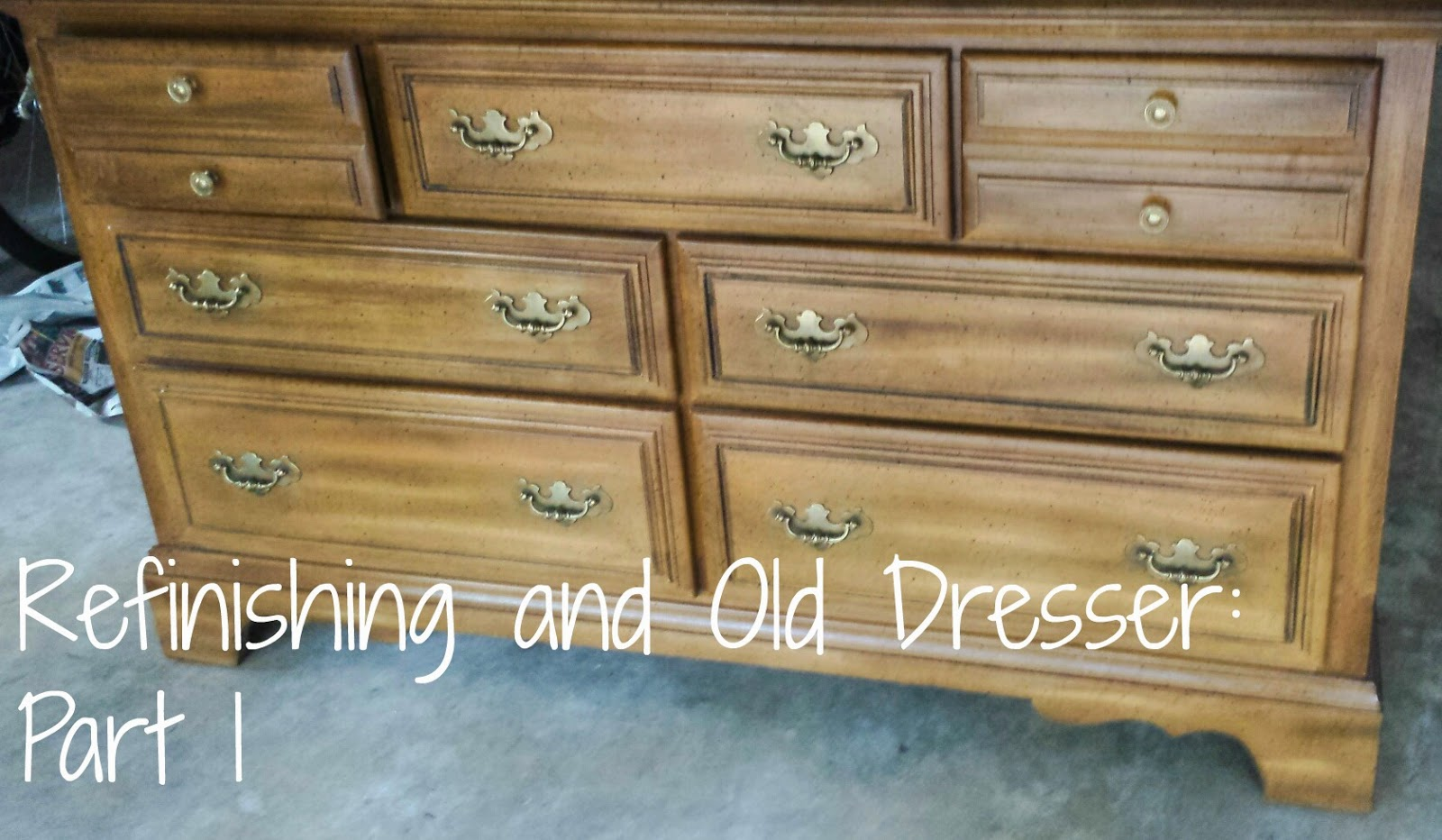 Refinishing An Old Dresser Part 1
