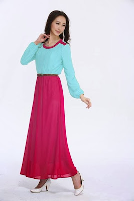 Quality Joint Color Chiffon Jubah