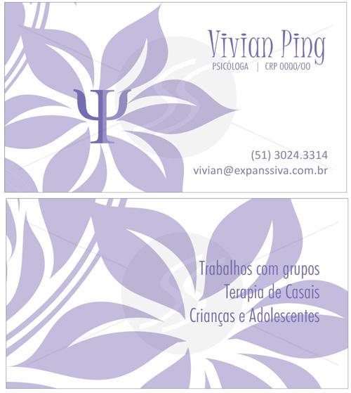 cartoes de visita psicologia moderno - Cartões de Visita para Psicólogos