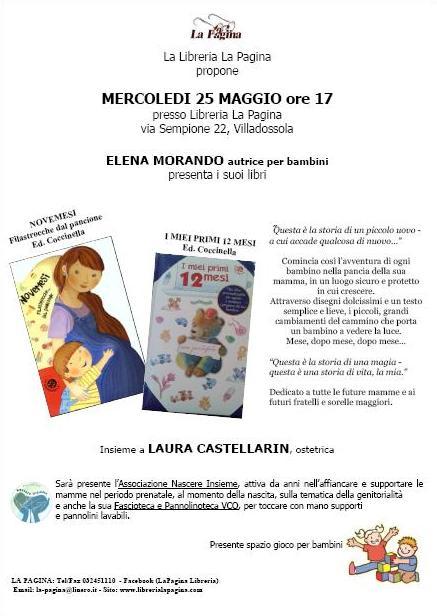 Presentazione libri di ELENA MORANDO