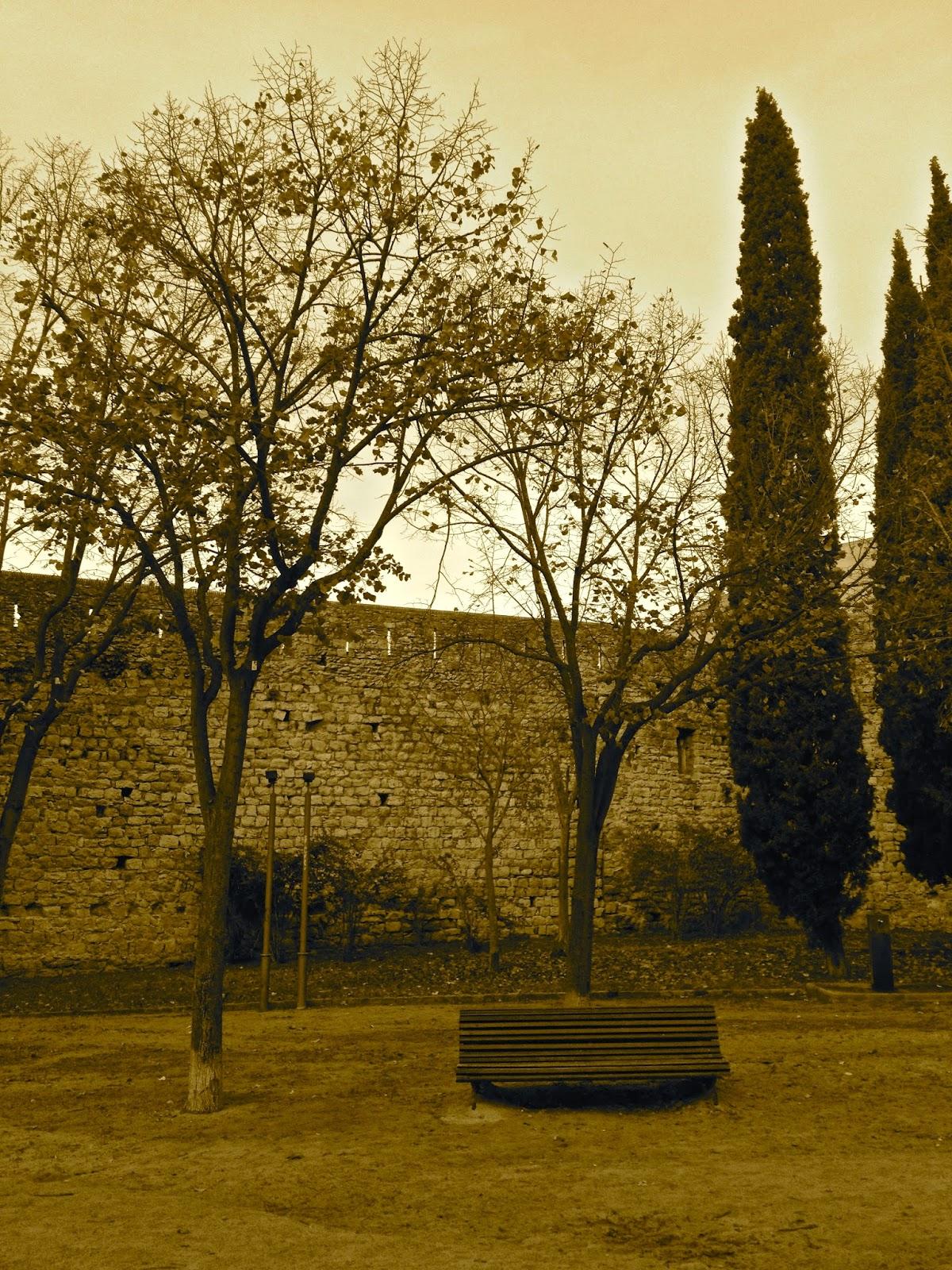 Antic Jardí de l'Hospital Militar, Jardins de la Muralla, Girona.