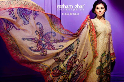 Resham Ghar Digital Printed Suits 2013-2014