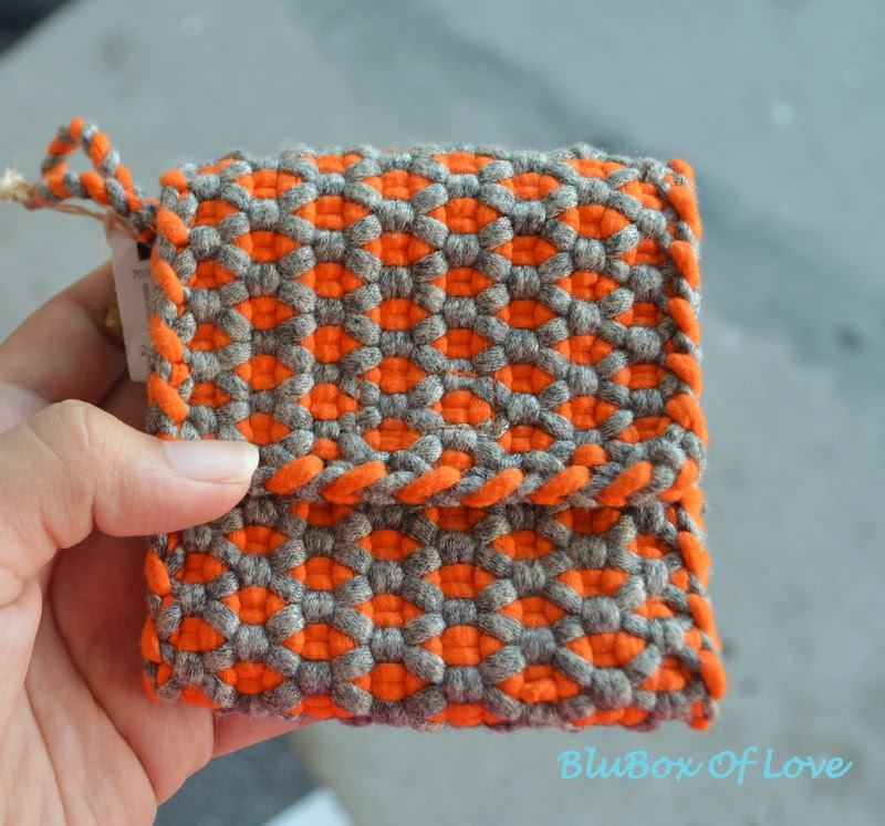 Coin Purse made of t-shirt yarn