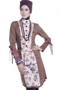 Esme Blus E-010403 - Coklat Krem (Toko Jilbab dan Busana Muslimah Terbaru)