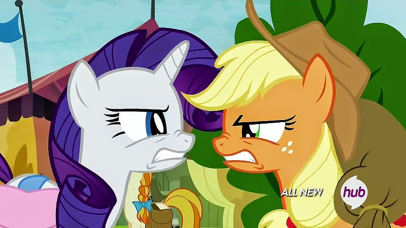 Rarity and Applejack get annoyed with each other