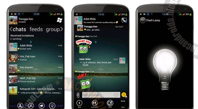 BBM Mod WindowsPhone Transparan Flash Lamp Versi 2.5.1.46