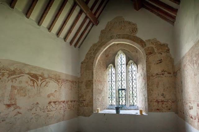 13th century wall paintings in St George's in the Cotswold village of Kelmscott by Martyn Ferry Photography