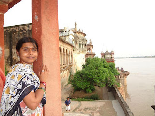 Nisha from TamilNadu on a Tourist spot.