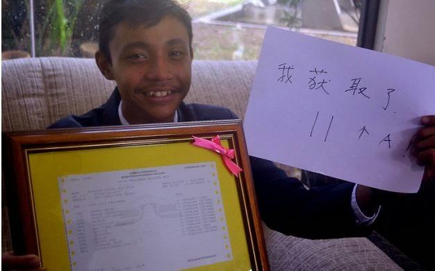 Muhammad Daniel Raih 10A Dalam SPM Di Sekolah Aliran Cina