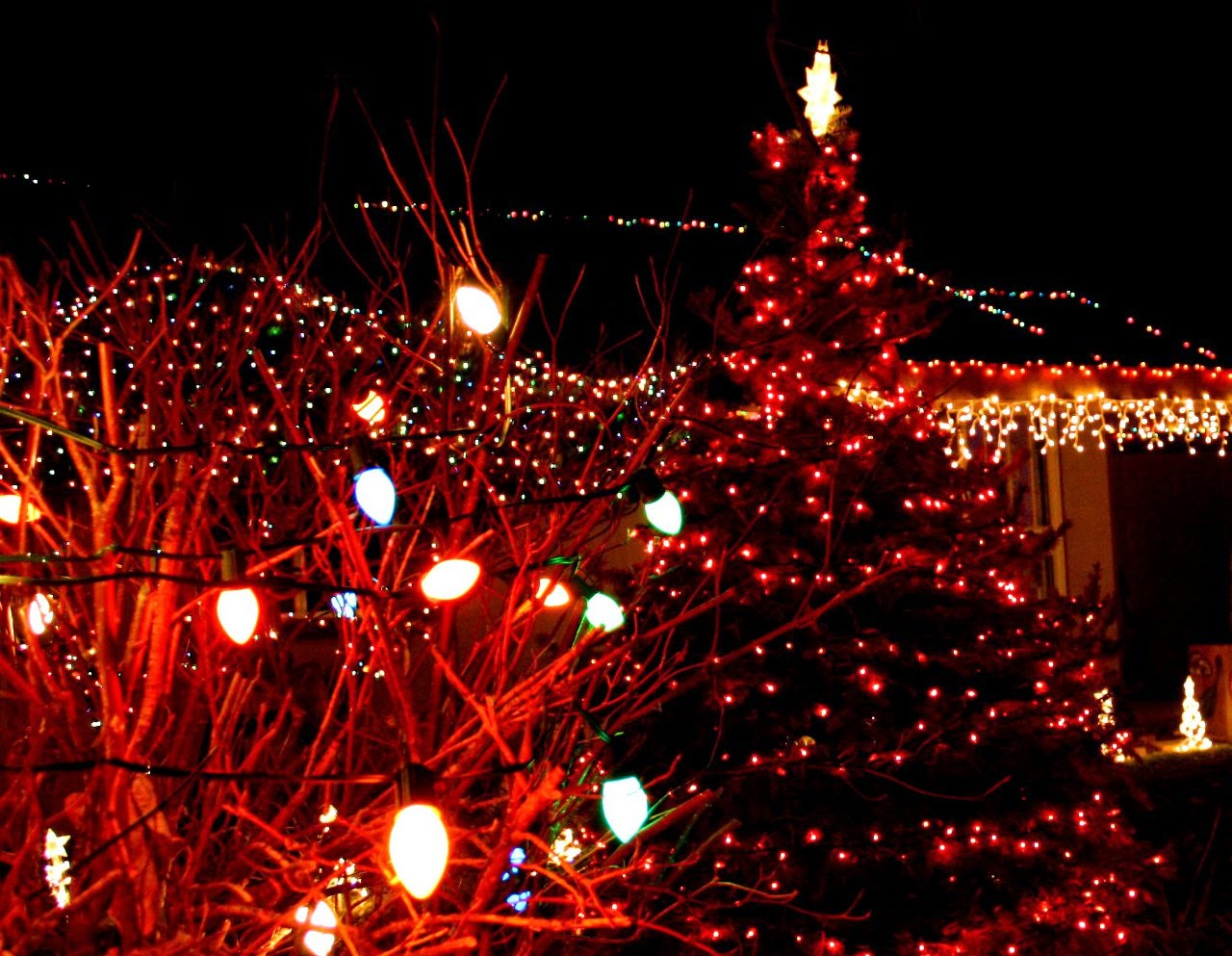 Free wonderful christmas light powerpoint templates and