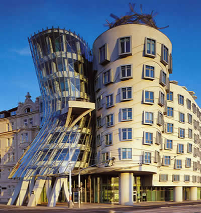 similar building two american dancers called dancing house