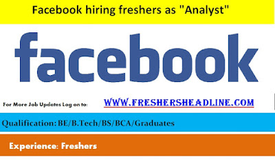 "Facebook hiring freshers as ""Analyst"""