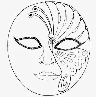 mascaras de carnaval moldes para colorir