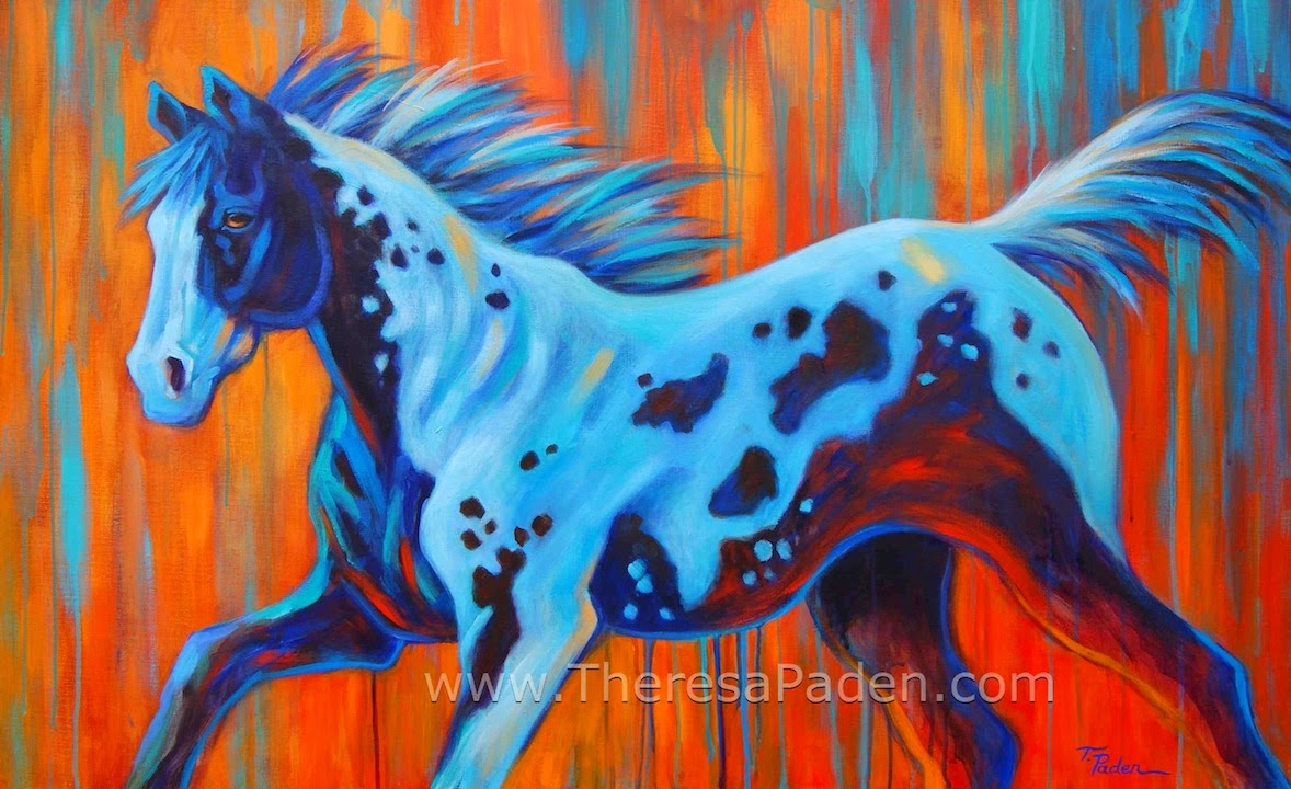 Wildlife Art Of The West Large Western Horse Painting In Bright