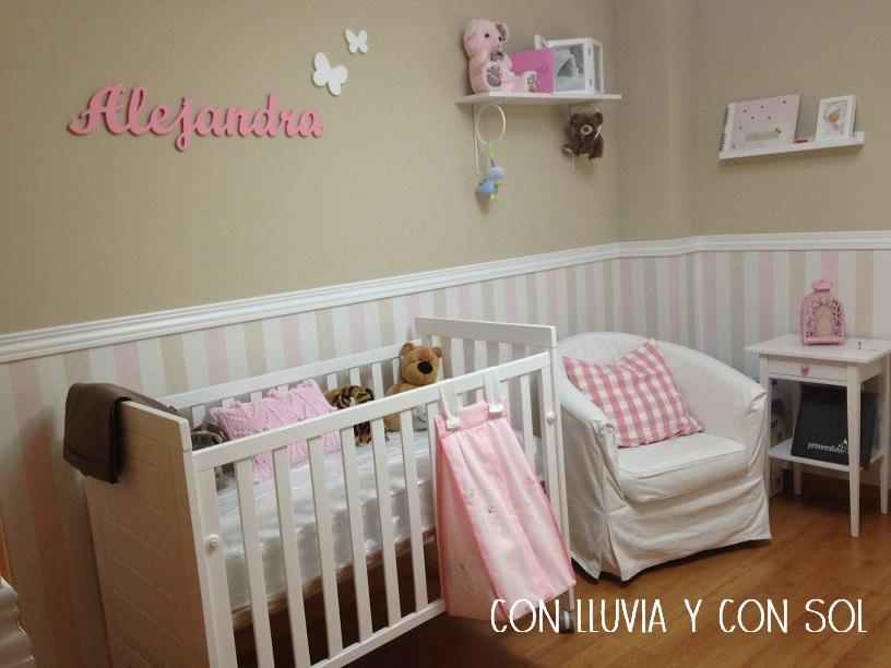 Con lluvia y con sol mural de pared infantil alejandra - Letras habitacion bebe ...