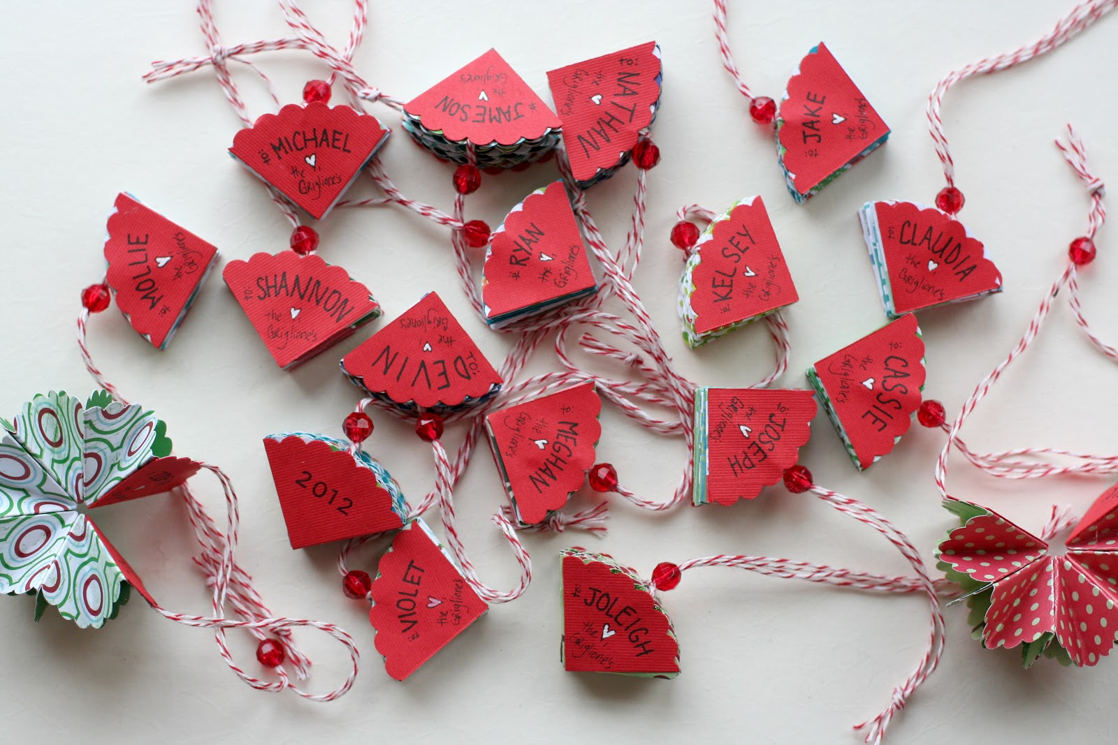 Notable nest foldable christmas ornaments
