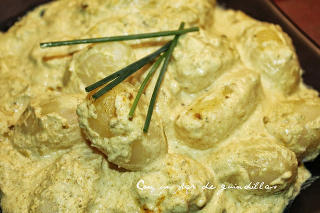 Patatas baby con cúrcuma y especias