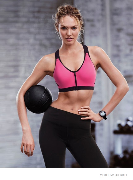 Candice Swanepoel and Lily Aldridge star for the Victoria's Secret Sport Fall 2014 Lookbook