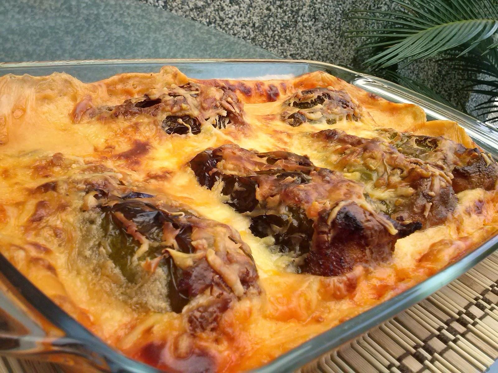 La cocina de sole pimientos rellenos de ternera con bechamel - Pimientos rellenos de carne picada y bechamel ...