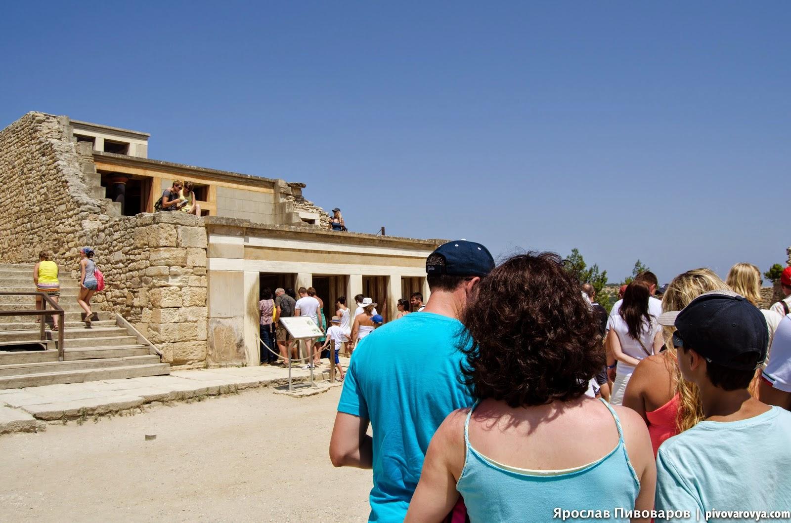 Кносский дворец на острове Крит (Греция)