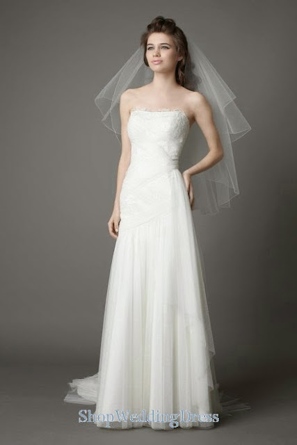 Dresses 2013-2014 Canada | Strapless Lace Tulle Ruched White Bridal Dresses 2013-2014 Canada,Usa,Australia,United Kingdom