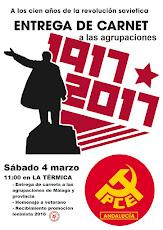 Entrega de cernés a las Agrupaciones Comunistas de la prov. Málaga 1917-2017