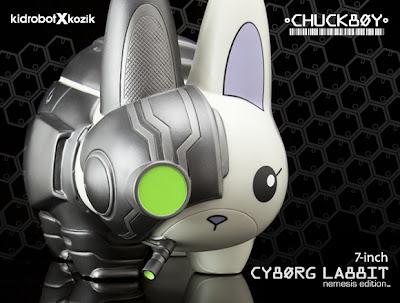 """Chuckboy  x Frank Kozik Nemesis Edition Cyborg 7"""" Labbit Vinyl Figure by Kidrobot"""