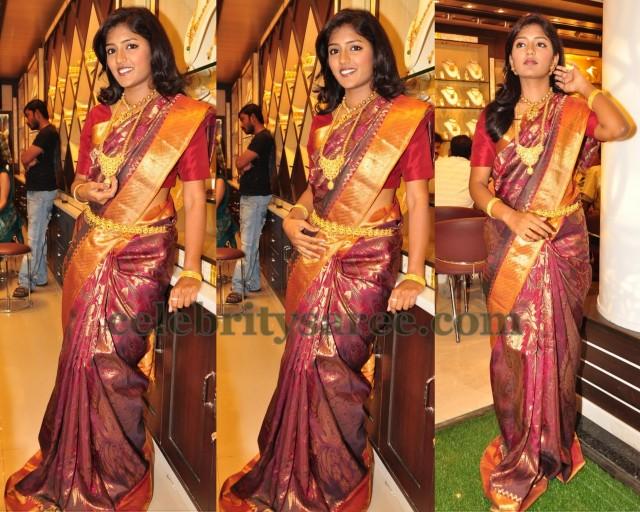 Eesha Maroon Bridal Saree