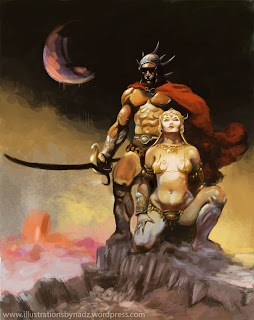 A Fighting Man of Mars von Frank Frazetta