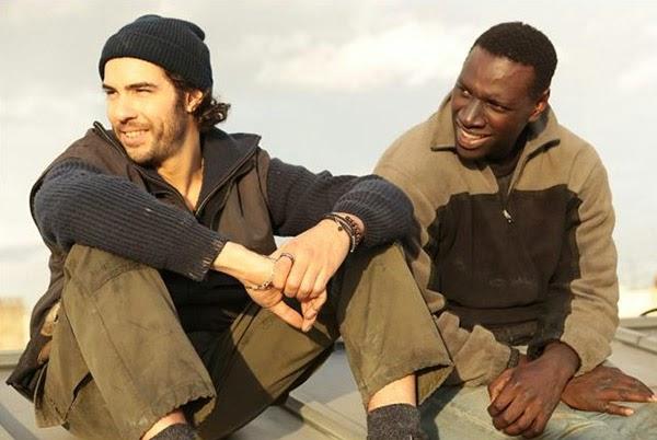Wilson (Tahar Rahim) et Samba (Omar Sy) dans Samba, d'Eric Toledano et Olivier Nakache