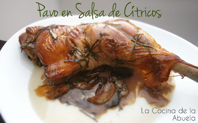 Pavo en Salsa de Cítricos.