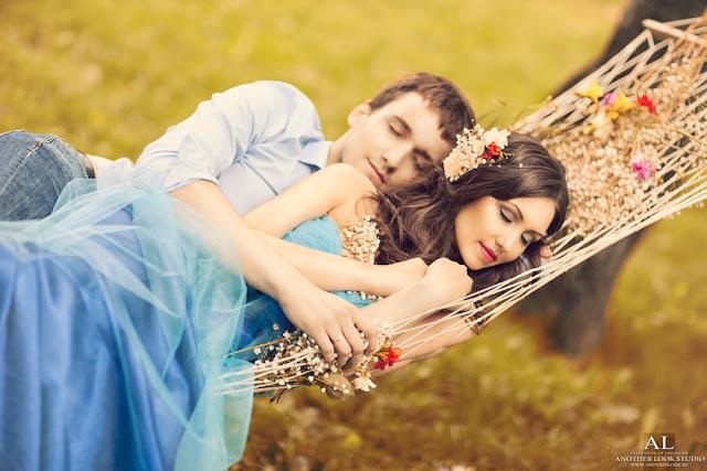 романтическая фотосессия в гамаке