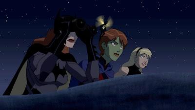 Miss Marte, Batgirl, Bumblebee e Moça Maravilha em Young Justice: Invasion