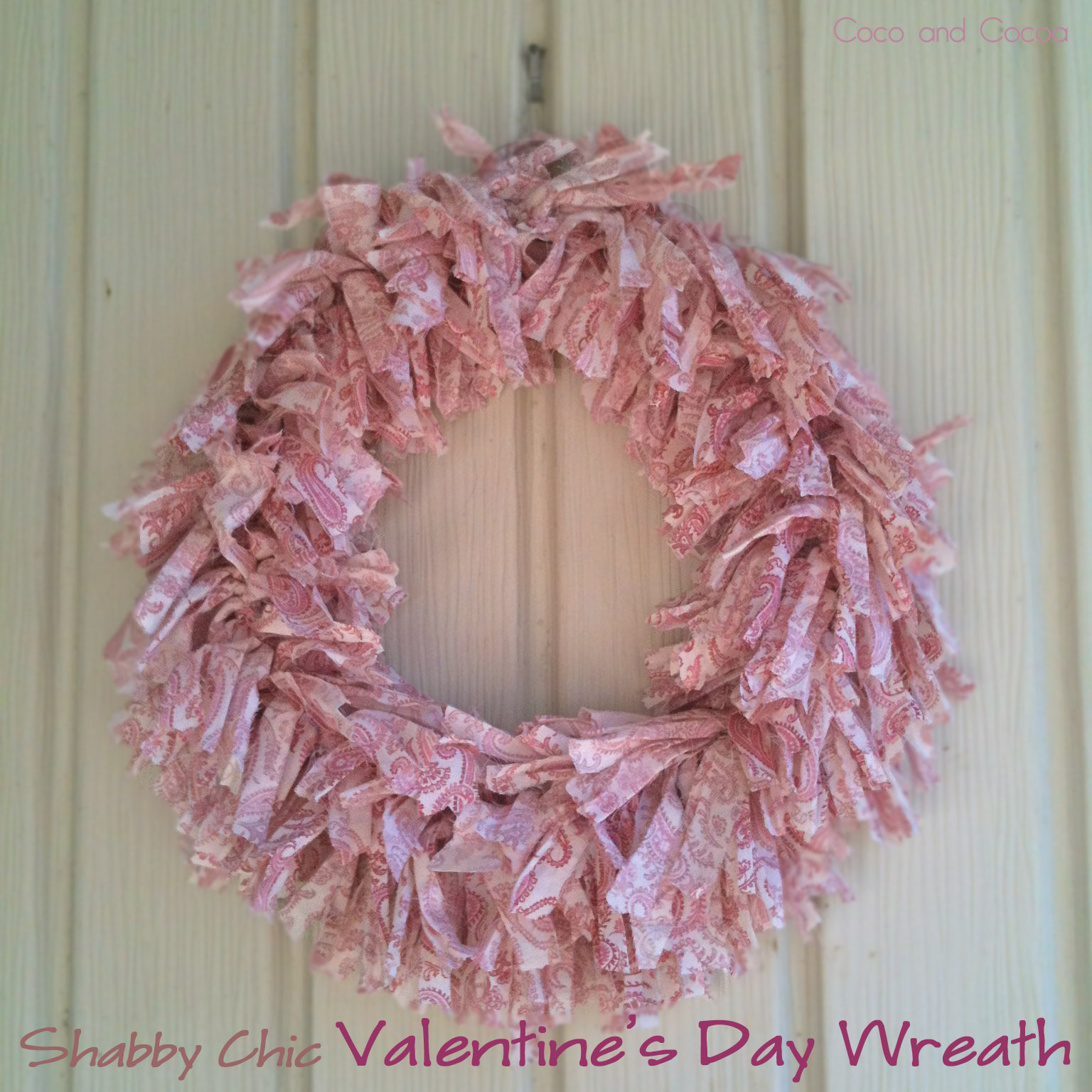 Shabby chic valentine 39 s day wreath for Shabby chic instagram