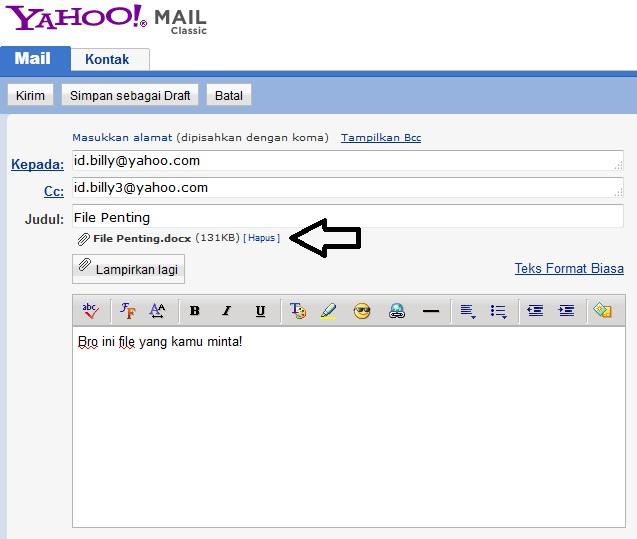 Demikianlah langkah-langkan cara mengirim file lewat email yahoo, Jika