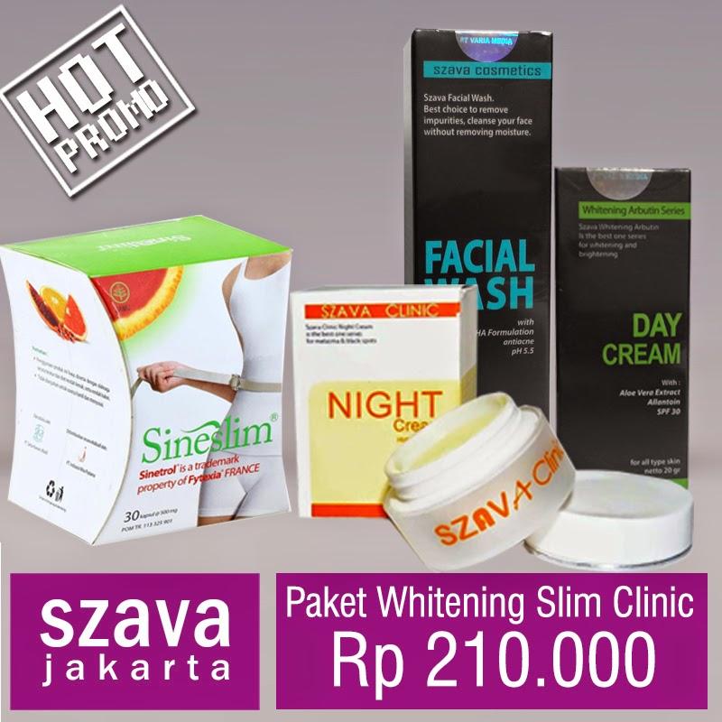 szava cosmetics paket whitening slim clinic 210rb oktober