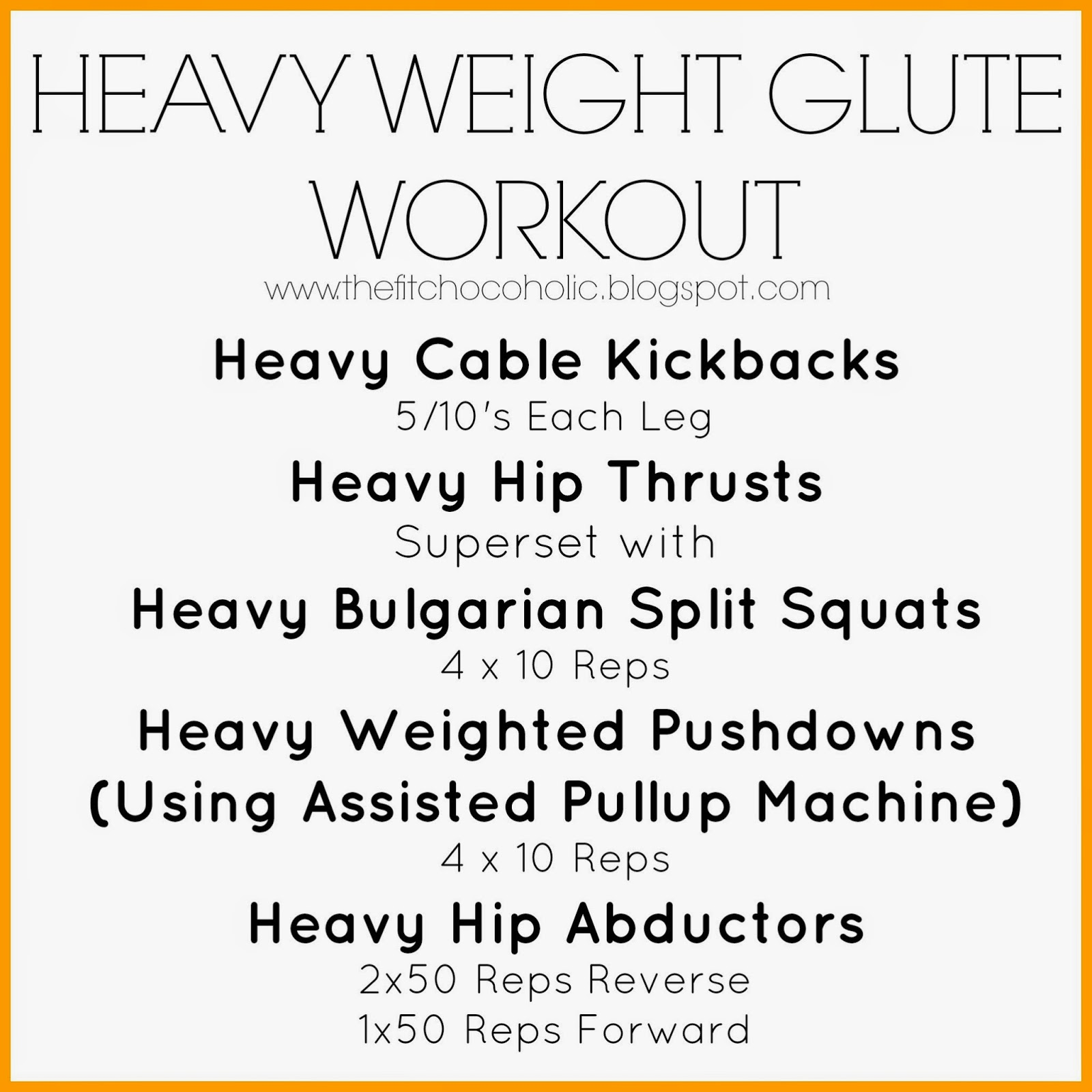 Heavy Weight Glute Workout