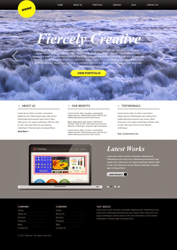 Minimal Website Template PSD