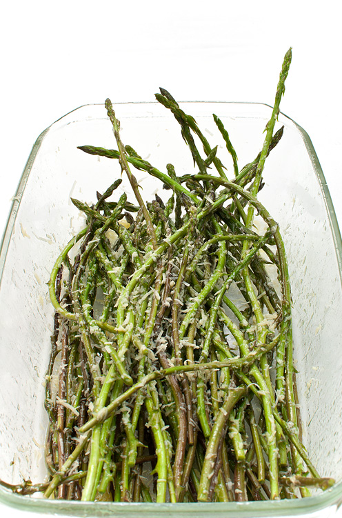 Wild asparagus with parmesan