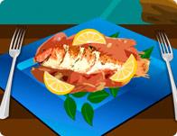 العاب طبخ السمك المشوي
