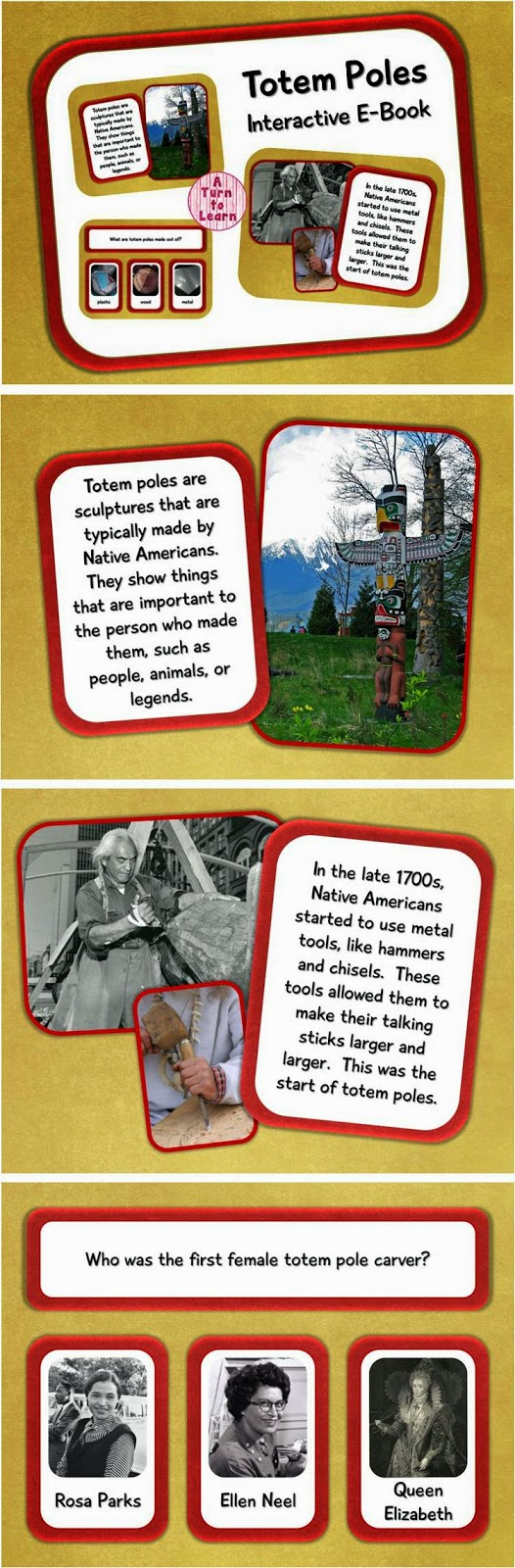 Totem Poles Interactive E-book for Smartboard