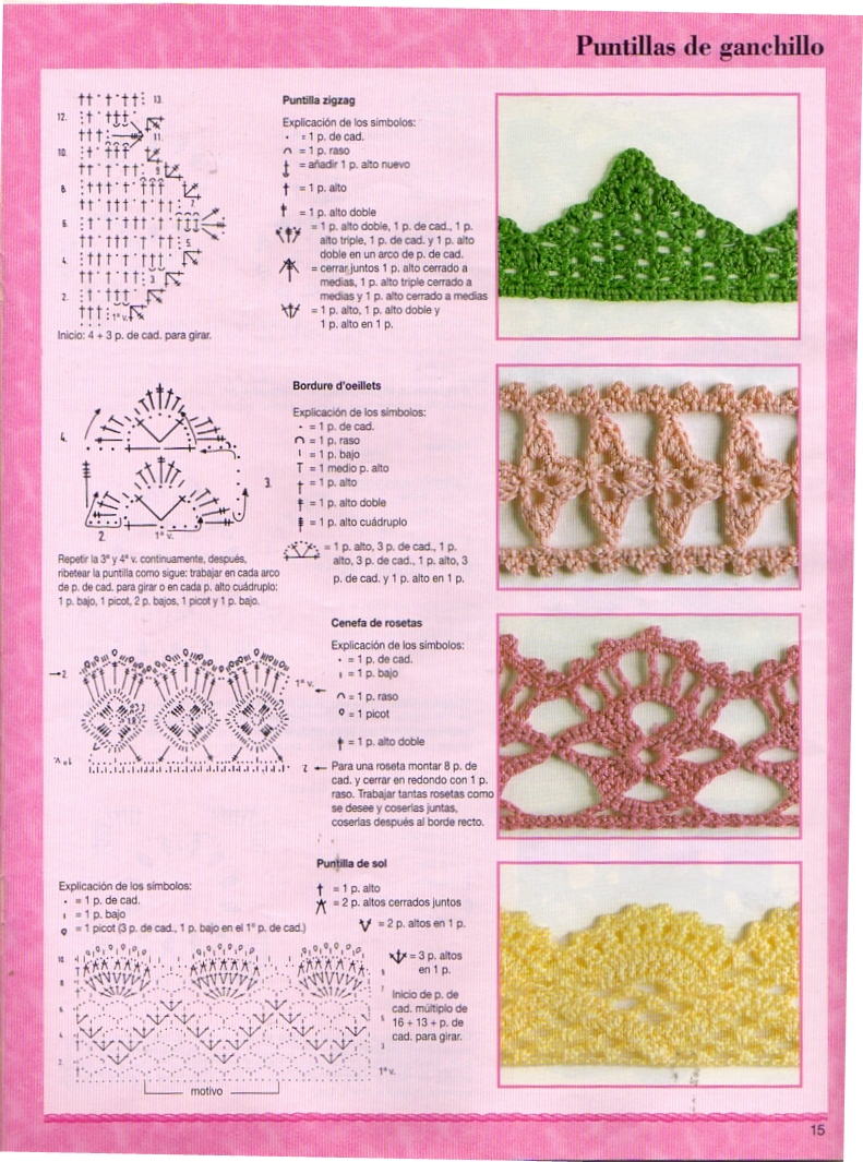 Bordes  Puntillas Crochet