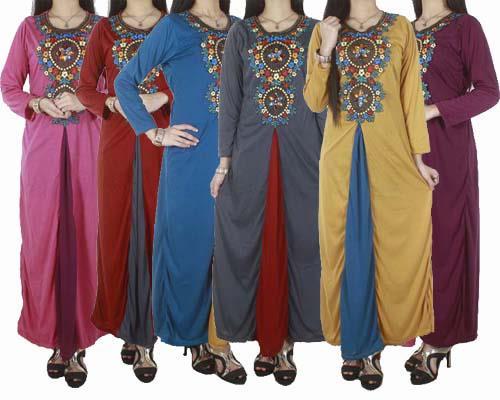 Model trendi baju gamis busana muslim terbaru 2015 Baju gamis model tahun ini