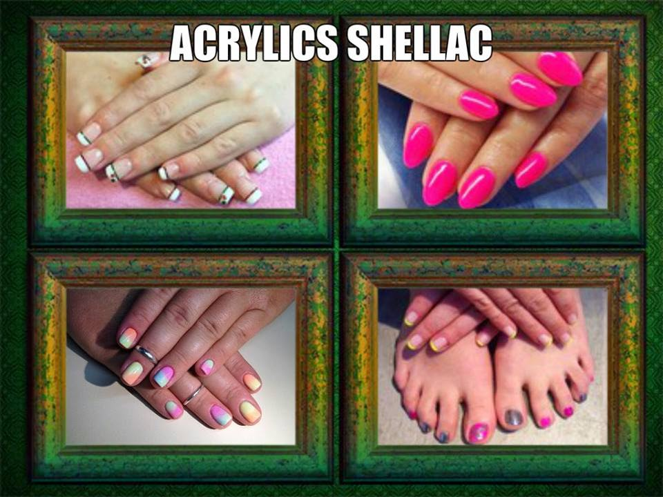 Acrylic and shellac manicure and pedicure Xmas 2015